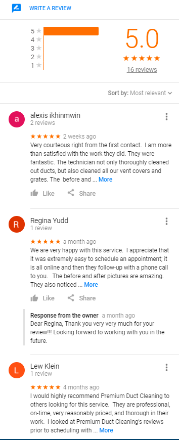 premiumductcleaning reviews google